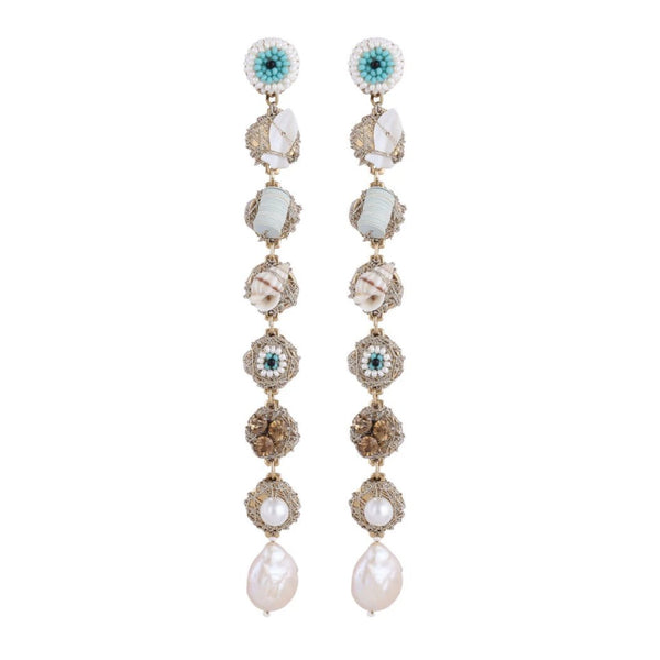 Deepa by Deepa Gurnani Handmade Nikkie Earrings Ivory