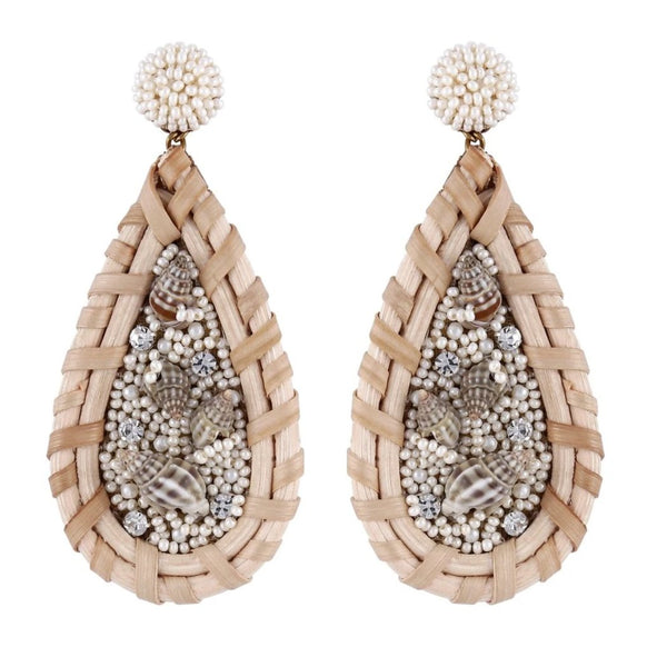 Deepa by Deepa Gurnani Handmade Gillian Earrings Ivory