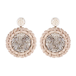 Deepa by Deepa Gurnani Handmade Erie Earrings Ivory
