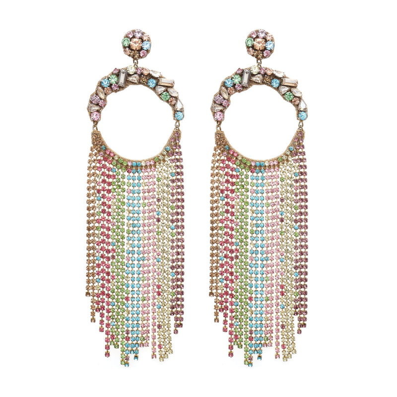 Deepa by Deepa Gurnani Handmade Gayle Earrings Pastel Multi
