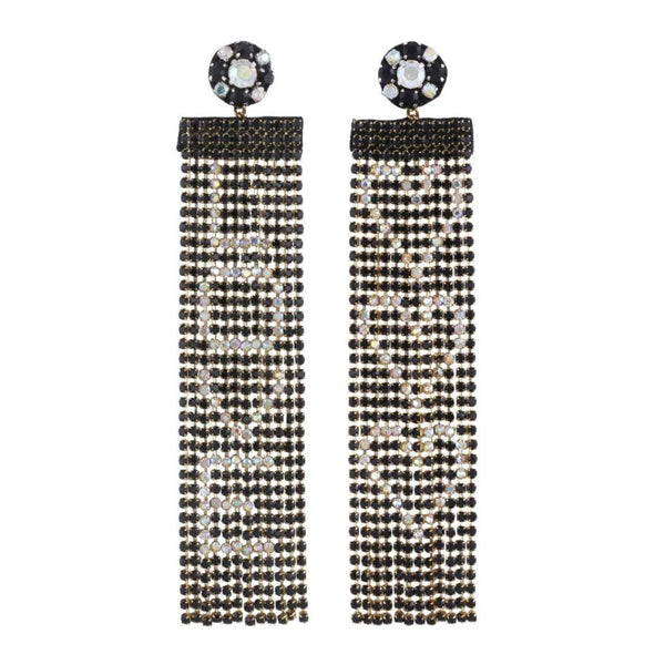 Deepa by Deepa Gurnani Handmade Love Earrings Black