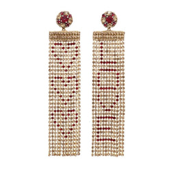 Deepa by Deepa Gurnani Handmade Love Earrings Gold