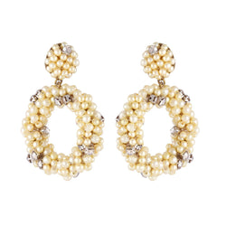 Deepa by Deepa Gurnani Handmade Daphna Earrings Gold