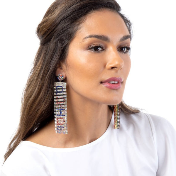 Handmade Pride Earrings in support of the LGBTQ community