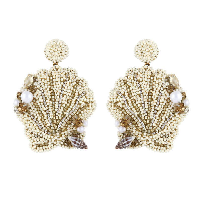 Deepa by Deepa Gurnani Handmade Heaven Earrings Ivory