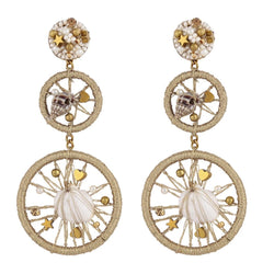 Deepa by Deepa Gurnani Handmade Adrianna Earrings Gold
