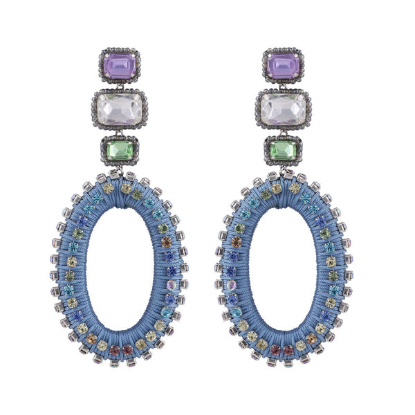 Deepa by Deepa Gurnani Handmade Haiden Earrings Blue