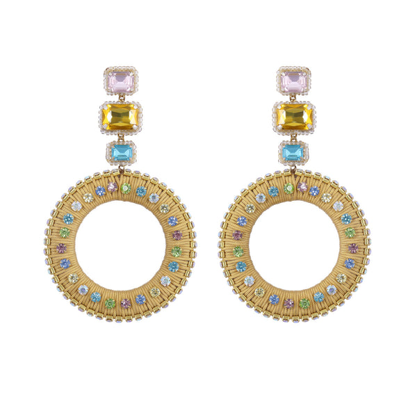 Deepa by Deepa Gurnani Handmade Luci Earrings Gold