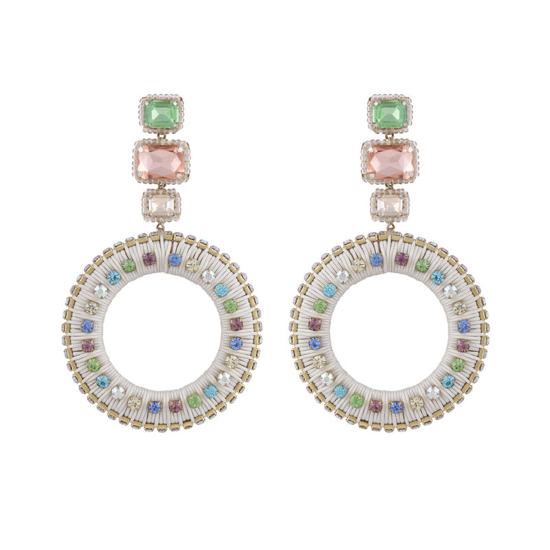 Deepa by Deepa Gurnani Handmade Luci Earrings Ivory