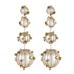 Deepa by Deepa Gurnani Handmade Scar Earrings Ivory