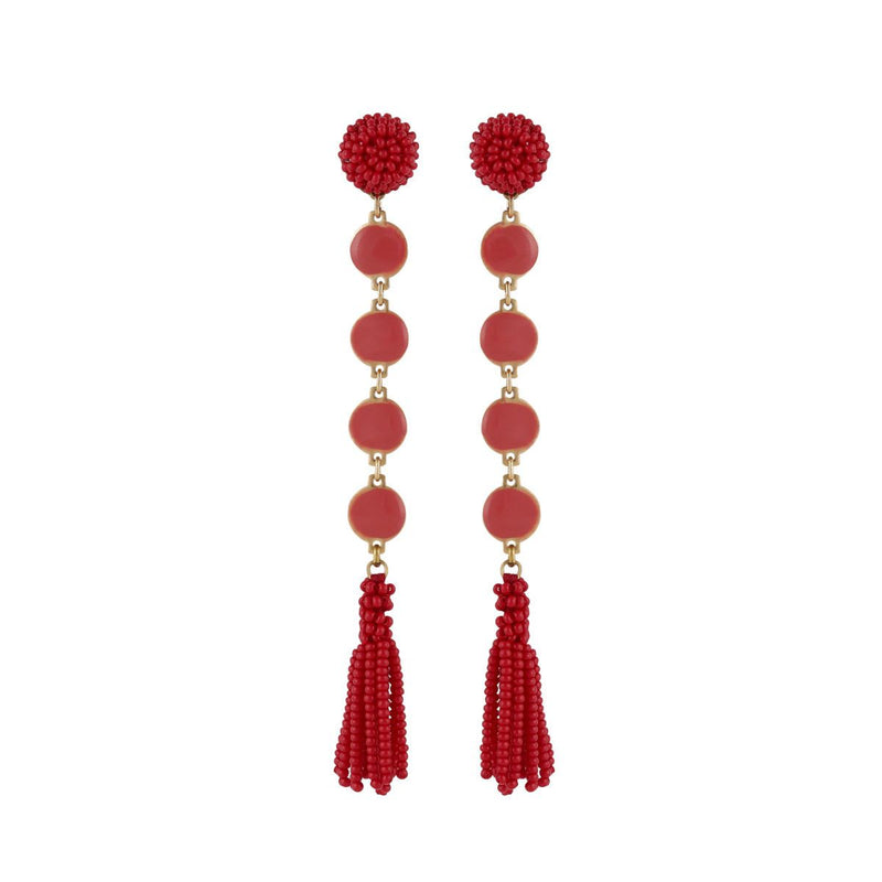Deepa by Deepa Gurnani Handmade Rani Earrings Red