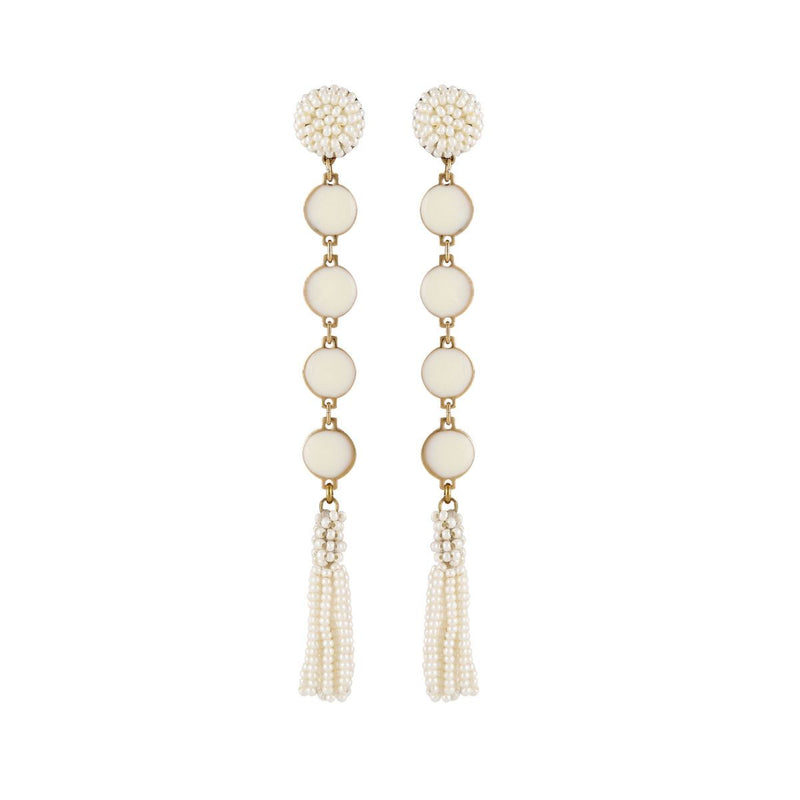 Deepa by Deepa Gurnani Handmade Rani Earrings Ivory