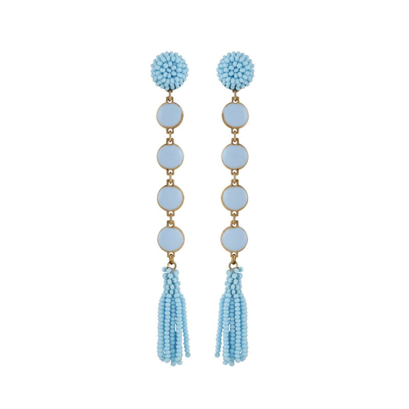 Deepa by Deepa Gurnani Handmade Rani Earrings Powder Blue