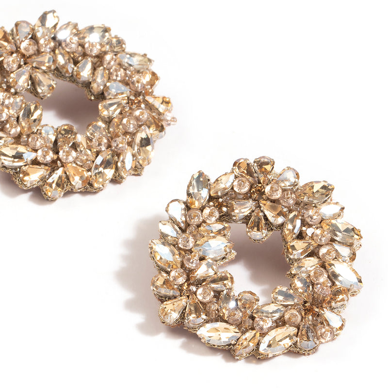 Deepa by Deepa Gurnani Handmade Binita Earrings Gold