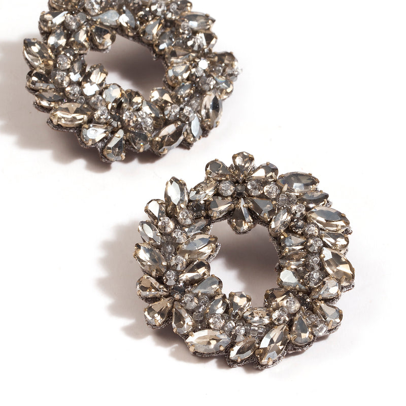 Deepa by Deepa Gurnani Handmade Binita Earrings Silver