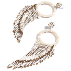 Deepa by Deepa Gurnani Handmade Brinda Earrings Ivory