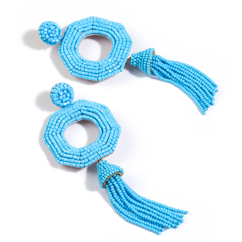 Deepa by Deepa Gurnani Handmade Isha Earrings Turquoise