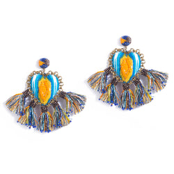 Handmade Zaina Earrings in Blue