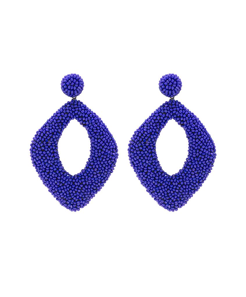chic img earrings spike crystal original crys blue cobalt products dangle boho swarovski rocker