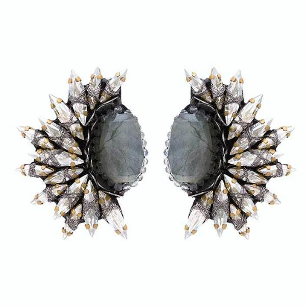 Deepa Gurnani Handmade Kaila Clip-on Luxe Earrings