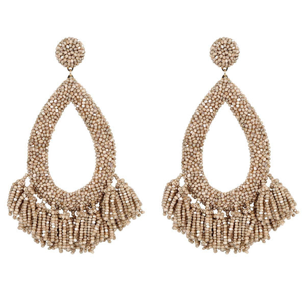 Deepa Gurnani Handmade Rafela Earrings in Champagne