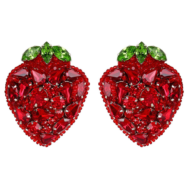 Strawberry Clip-on Earrings