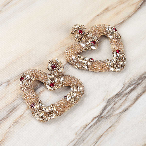 Deepa Gurnani Handmade Juliette Earrings on Marble Background