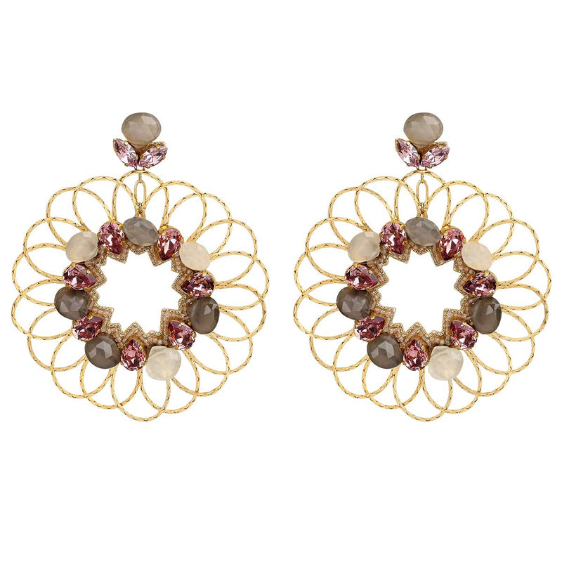 Deepa Gurnani Handmade Jacqueline Earrings in Gold