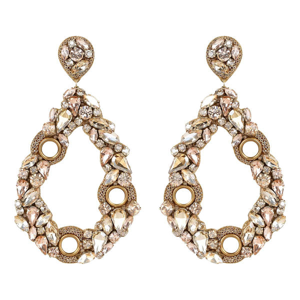 Deepa Gurnani Handmade Unity Earrings in Gold