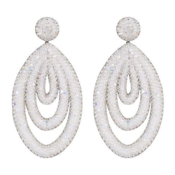 Deepa Gurnani Handmade Winifred Earrings in White