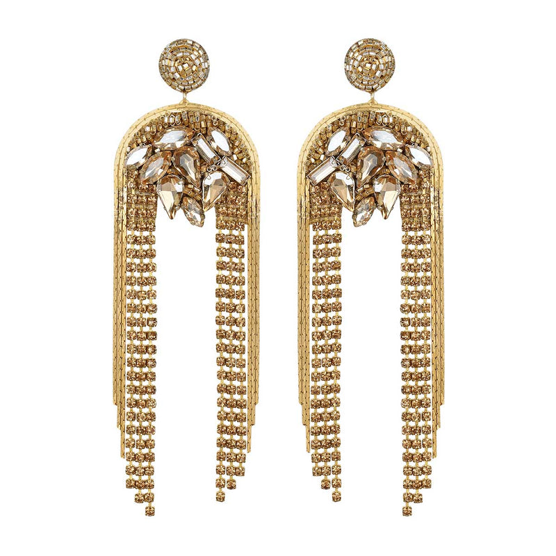 Deepa Gurnani Handmade Kylee Earrings in Gold