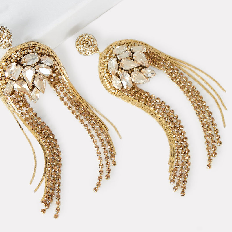 Gold Kylee Statement Earrings