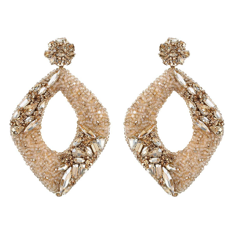 Deepa Gurnani Handmade René Earrings in Gold