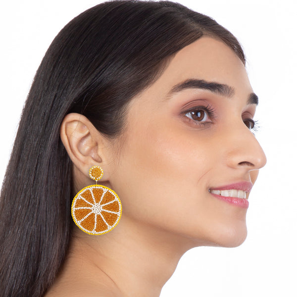 Fun lemon earrings by Deepa Gurnani