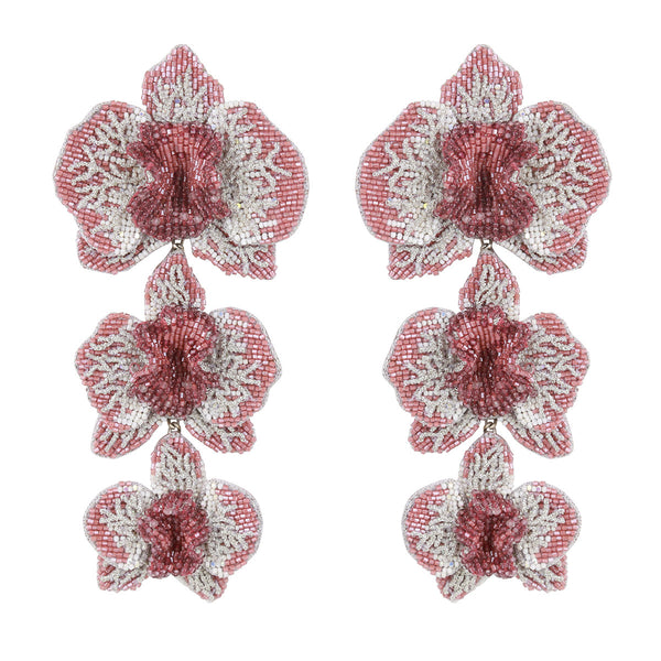 Lightweight Luxury Orchid Earrings