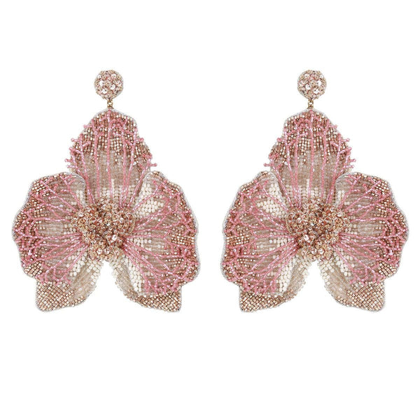 Lightweight Orchid Statement Earrings