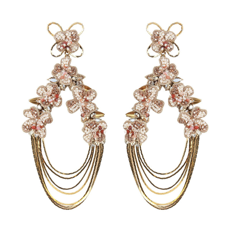 Deepa Gurnani Handmade Kassidy Earrings Gold