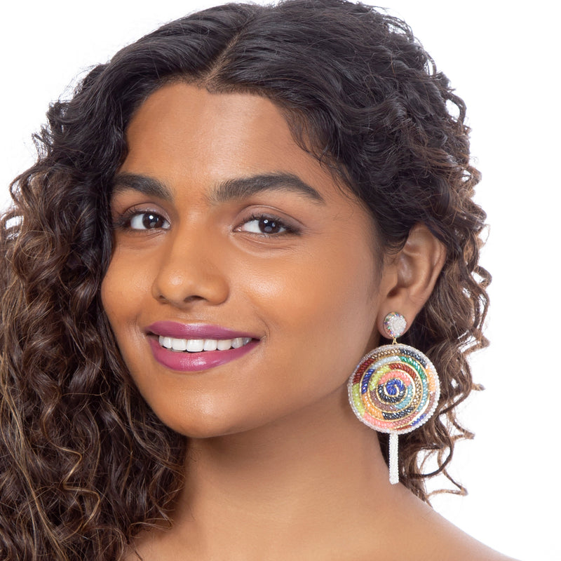 Sweetly styled lollipop earrings by Deepa Gurnani