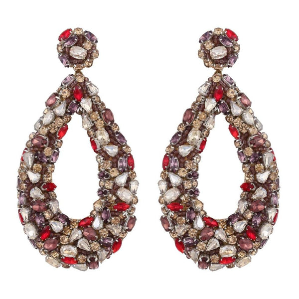 Deepa Gurnani Handmade Karen Earrings Gold