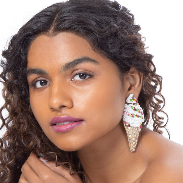 Beat the heat with Deepa Gurnani's ice cream cone earrings