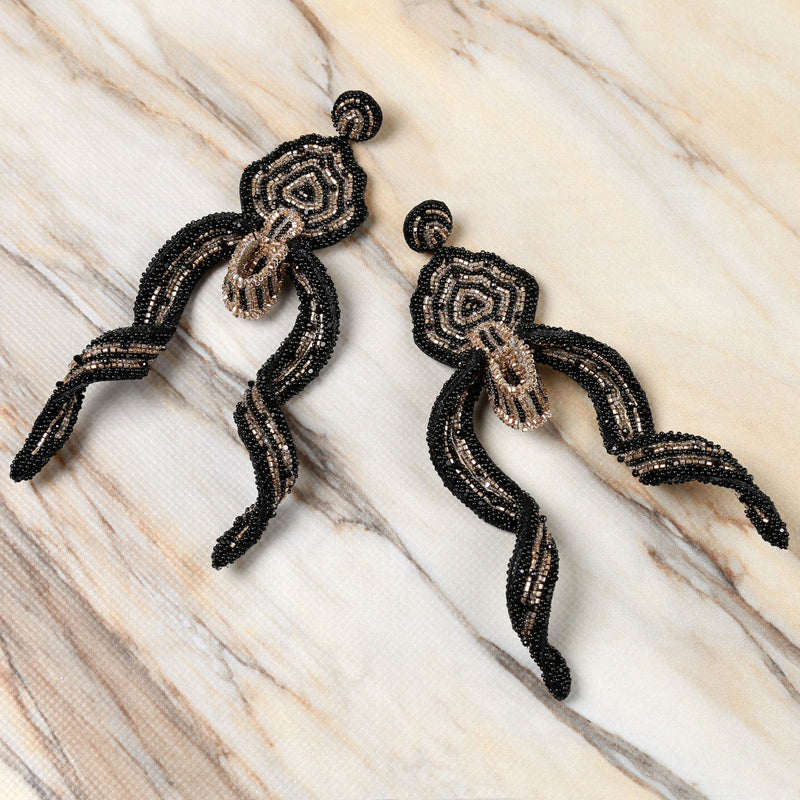 Deepa Gurnani Handmade Ivonna Earrings on Marble Background