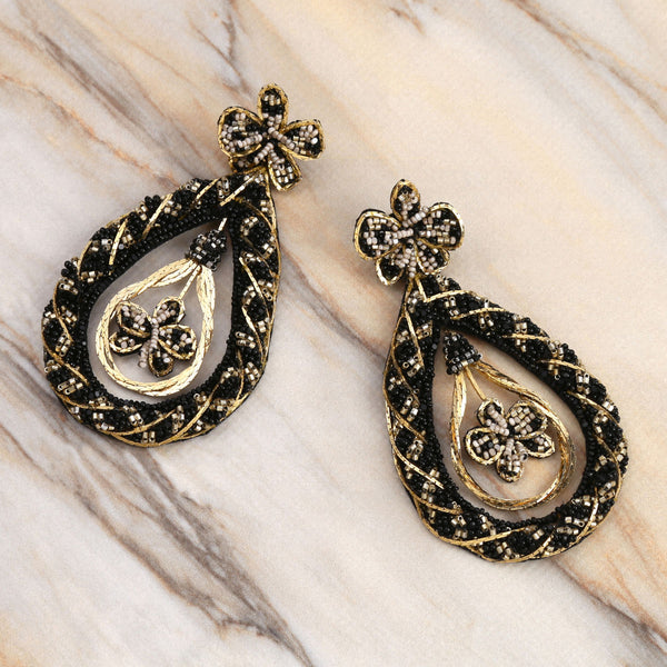Deepa Gurnani Handmade Nida Earrings on Marble Background