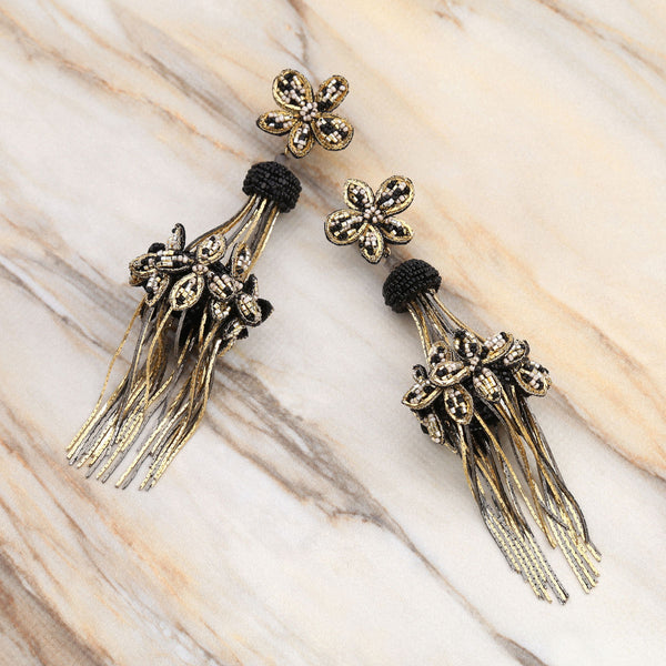 Deepa Gurnani Handmade Anabella Earrings on Marble Background