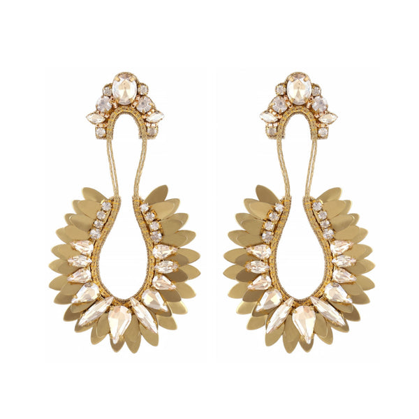 Deepa Gurnani Handmade Nior Earrings Gold