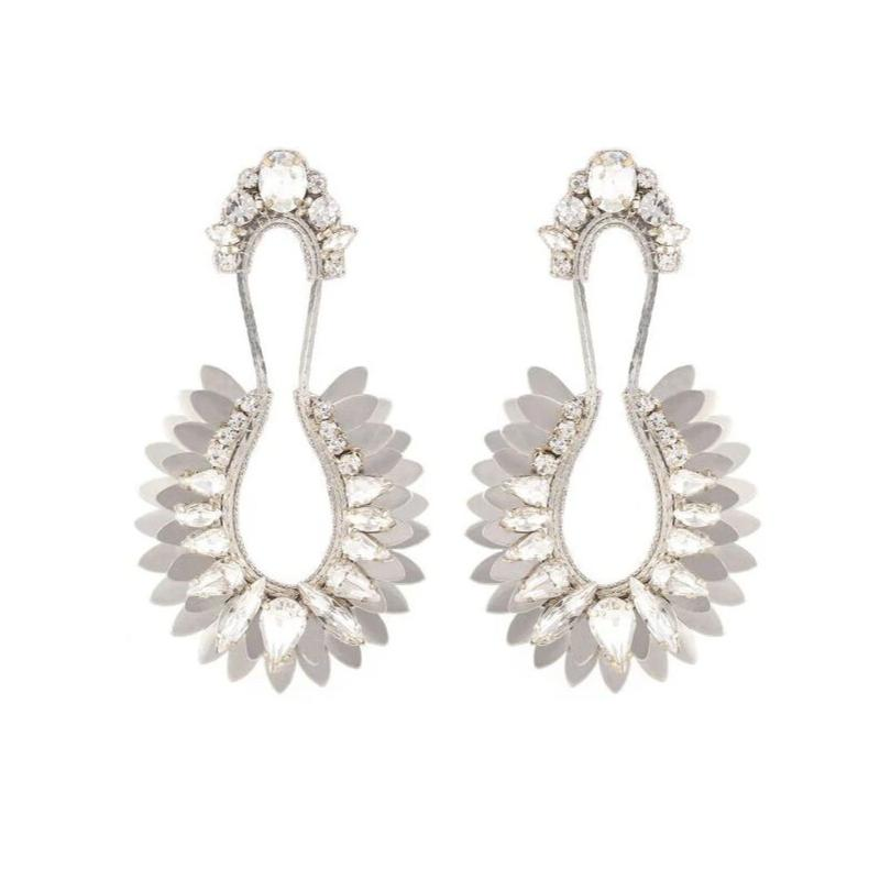 Deepa Gurnani Handmade Nior Earrings Silver