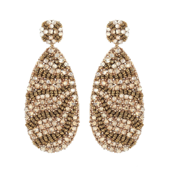 Deepa Gurnani Handmade Page Earrings Gold