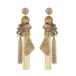 Deepa Gurnani Handmade Shanna Earrings Gold