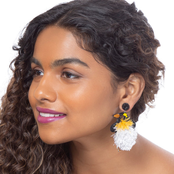 Cute and lovable penguin earrings by Deepa Gurnani
