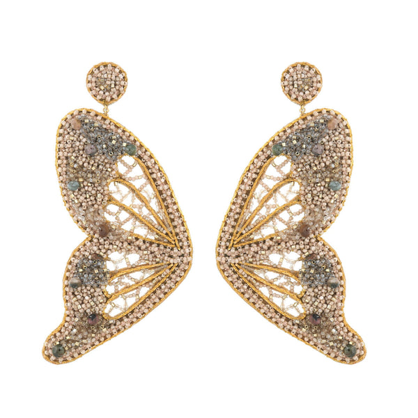 Deepa Gurnani Handmade Ellison Butterfly Earrings Gold