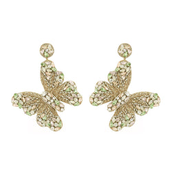 Deepa Gurnani Handmade Kathryn Butterfly Earrings Multi Color